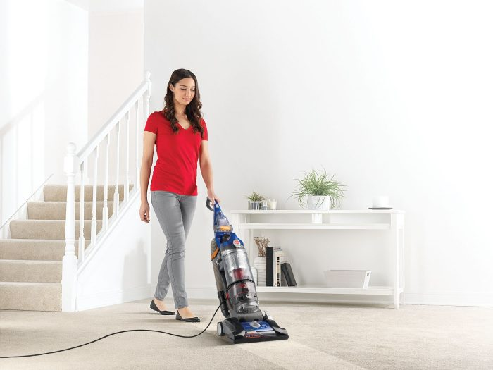 Hoover WindTunnel 3 Pro Pet Bagless Upright in action
