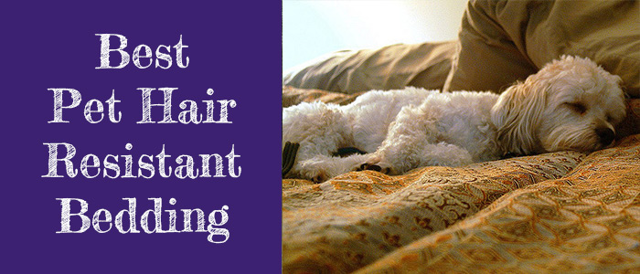 Pet hair resistant bedding