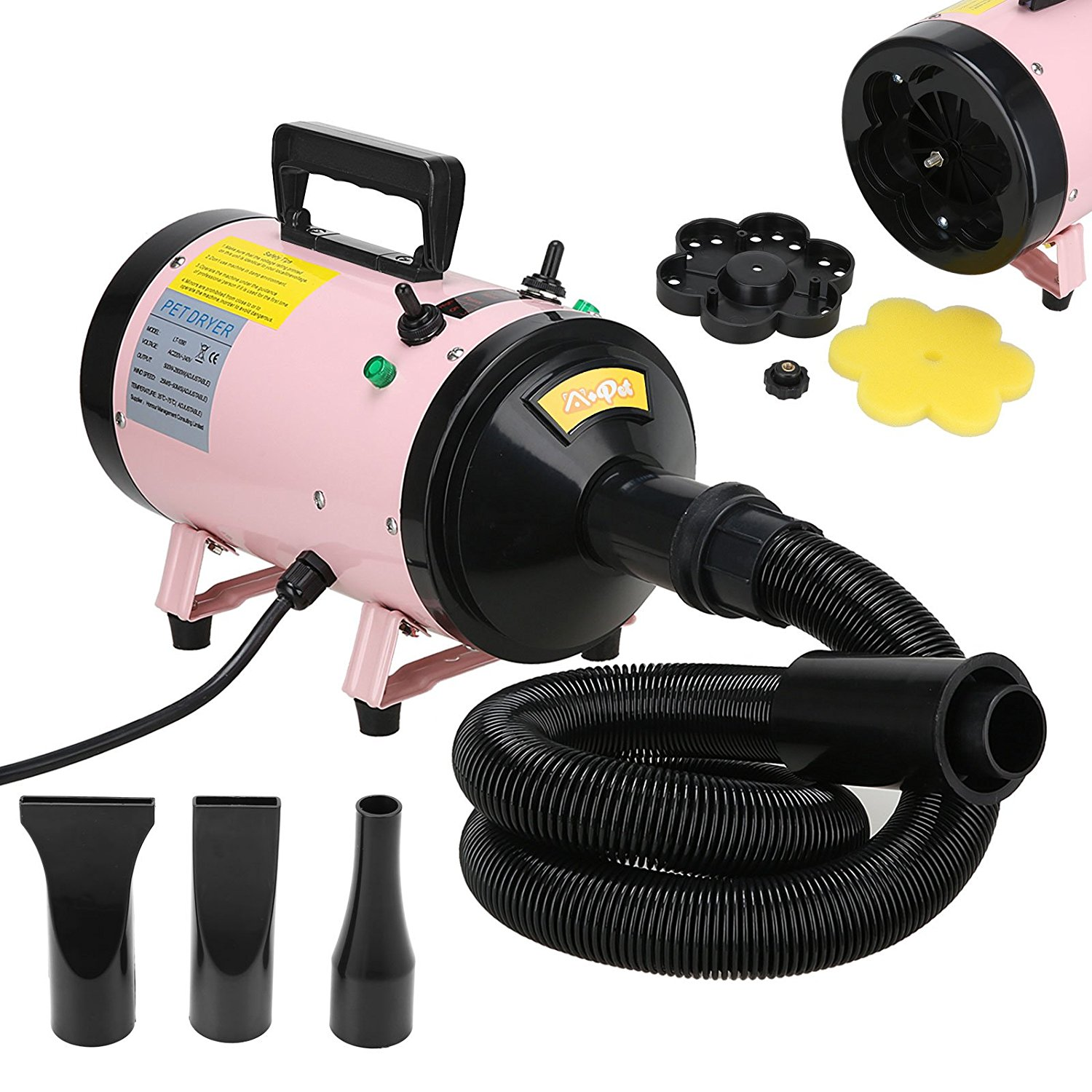 Voilamart 2800W Pink High Velocity Pet Dryer